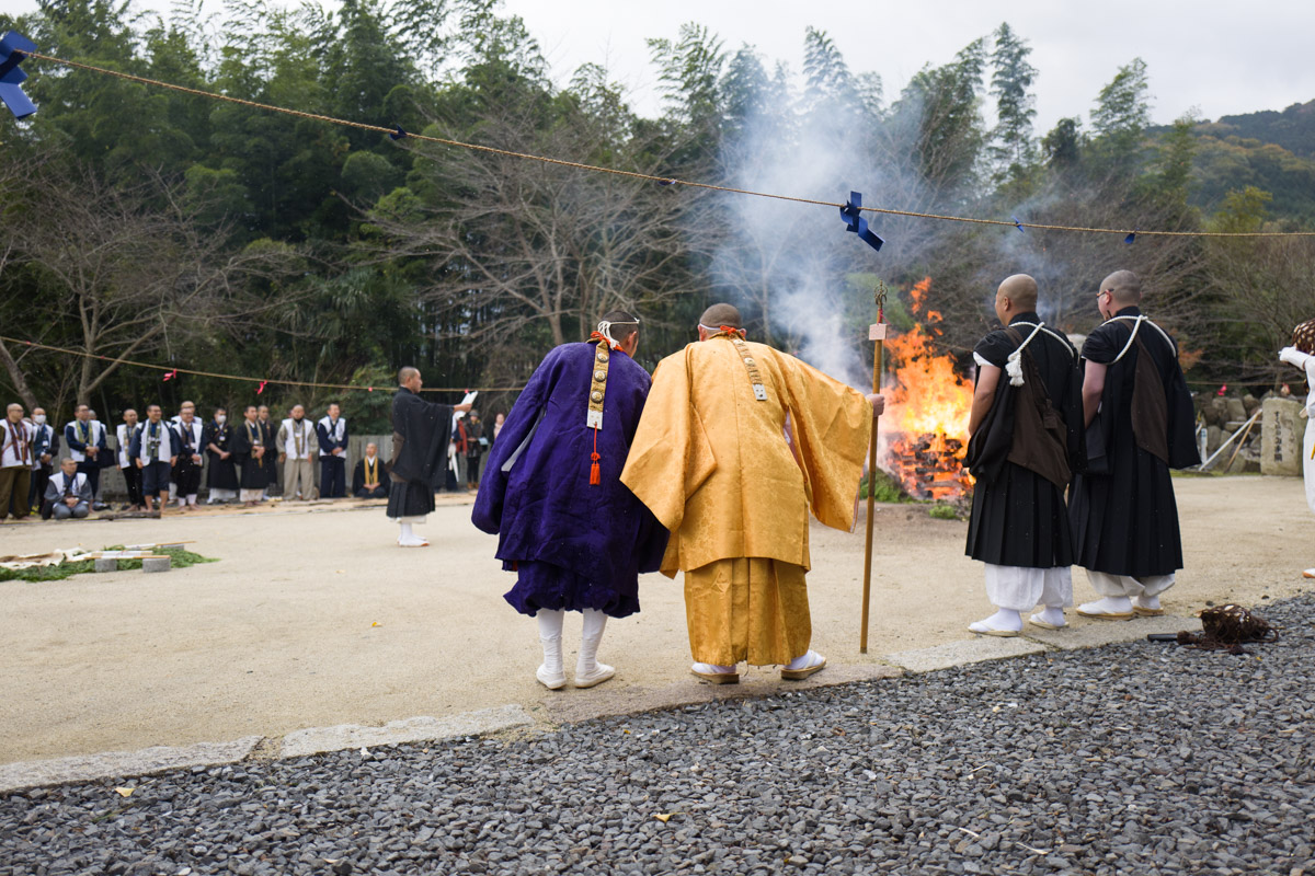 whiskering fire monks, Shikoku, uncropped