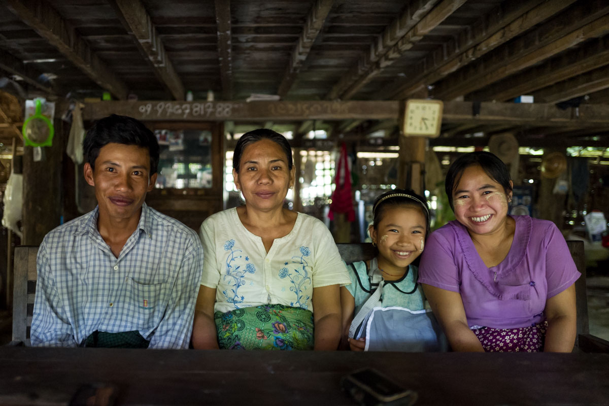 Burmese farming family