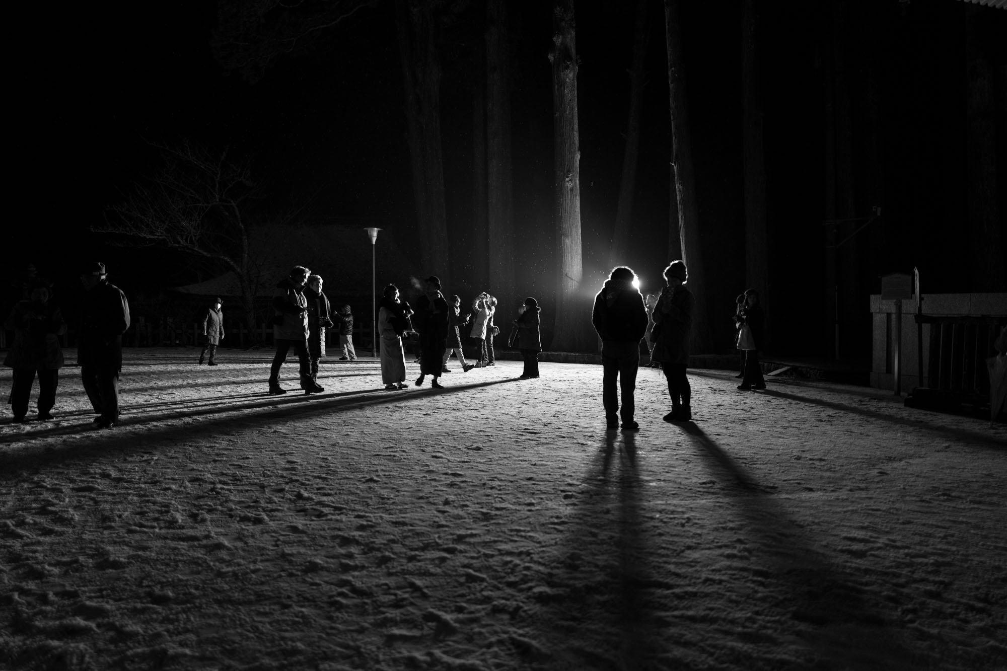Winterwalk, Koyasan, uncropped