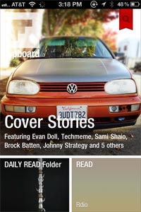 Flipboard for iPhone: cover stories