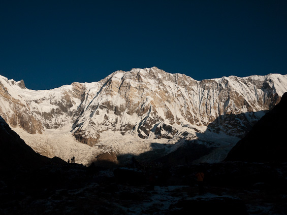 Sunrise at Annapurna Base Camp.