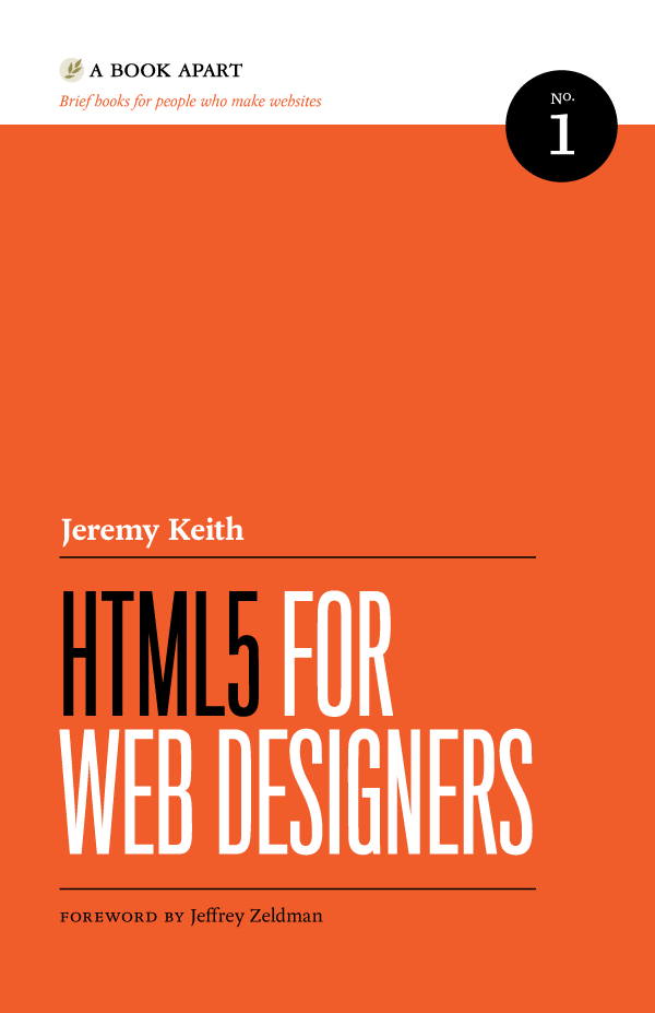 A Book Apart book cover — HTML5 for Web Designers
