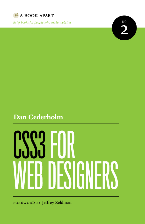 A Book Apart book cover — CSS3 for Web Designers