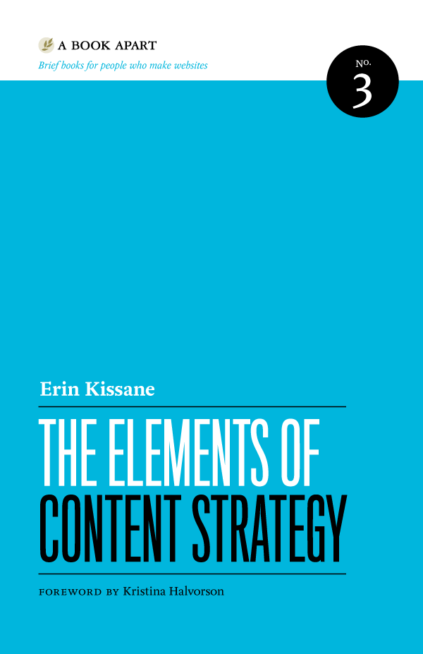 A Book Apart book cover — The Elements of Content Strategy