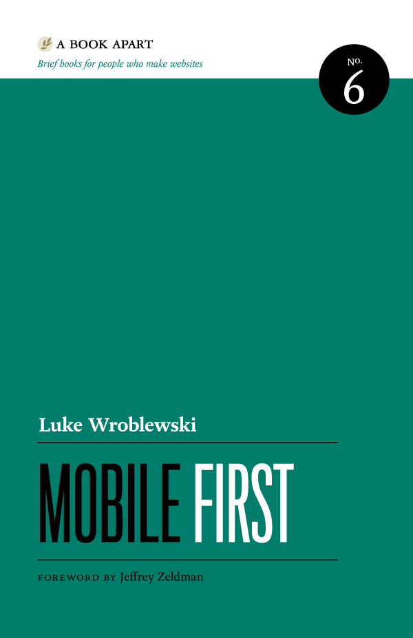 A Book Apart book cover — Mobile First