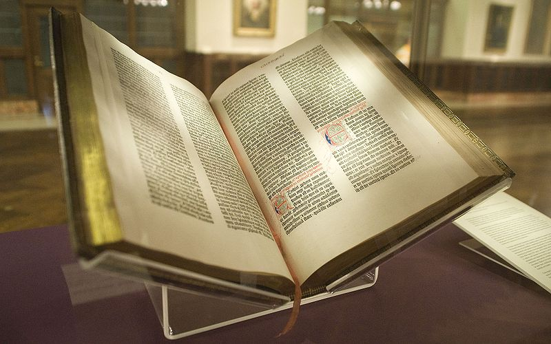The Gutenberg bible and I misspelt gutenberg in the file name nobody reads these alt descriptions, right?
