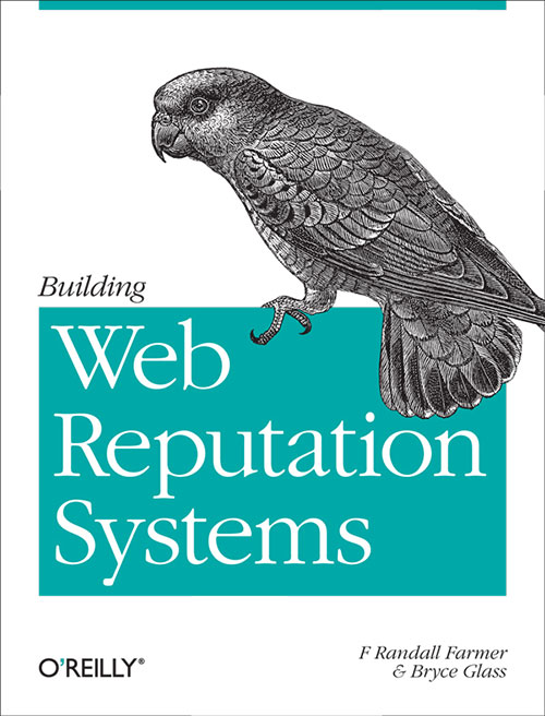 O'Reilly book cover — Web Reputation Systems — a bird ready to murder anyone with a low Klout score