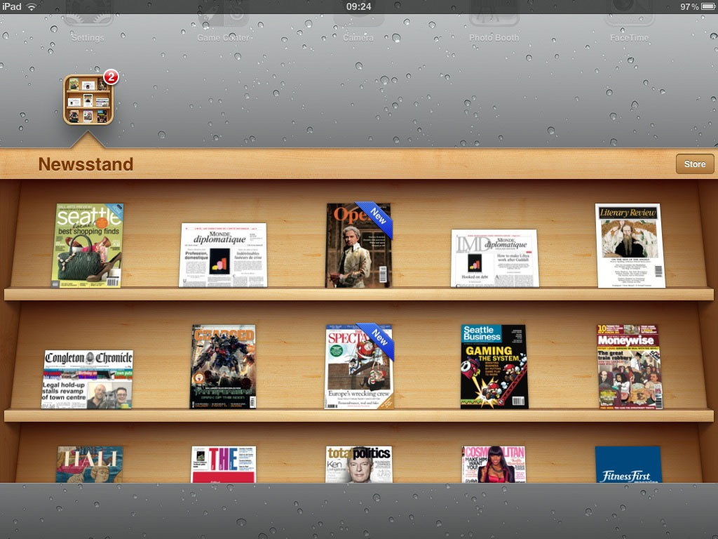 Apple Newsstand screenshot