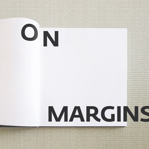 On Margins, type on book